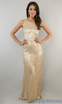 Bridesmaids Dresses - $89, Sleeveless Sequin Gown for Prom at SimplyDresses.com