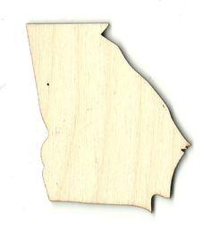 Georgia Unfinished Laser Cut Wood Shape