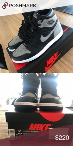 b4554a5aa86 Jordan 1 retro high shadow Jordan 1 retro high shadow Jordan Shoes Sneakers