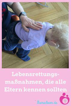 Beatmen & Heimlich-Handgriff: So rettest Du ein Kind - Kids - Bebe Baby Health, Kids Health, Children Health, Baby Co, Nursing Tips, Child Life, Baby Kind, Happy Baby, Baby Hacks