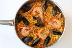 Homemade Seafood Paella - Spain