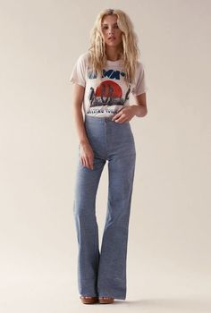 Image result for 70s inspired fashion high waisted
