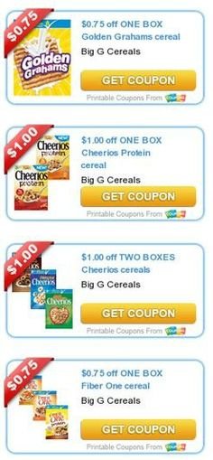 Nearly 50 new printable coupons have been released for July including lots of breakfast cereal coupons | 5DollarDinners.com