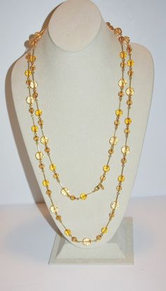 Joan Rivers Necklace Gold Tone Beads 60 Inches  by SCLadyDiJewelry - $24.95