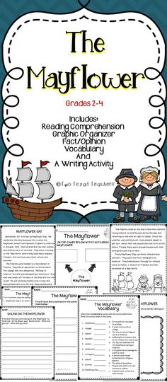 The Mayflower - This is an activity pack all about The Mayflower. This Mayflower resource includes literacy activities for the classroom. #mayflower