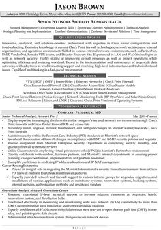 9 Best Network Administrator Resume Templates Samples Images