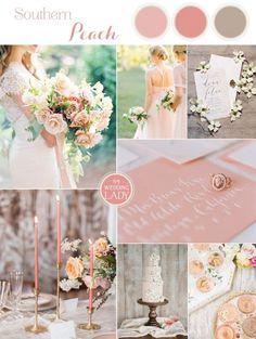 Southern Peach Summer Wedding Palette | http://heyweddinglady.com/southern-peach-summer-wedding-palette