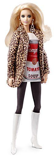 Barbie Collector Andy Warhol Campbells Soup Can 1 Doll Doll Pays Tribute To And Andy Warhol, Pop Art, Mattel Barbie, Barbie Dolls, Doll Toys, Barbie Blog, Barbie Website, Campbell's Soup Cans, Tribute