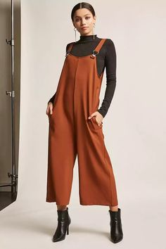 Product Name:Scoop-Neck Culotte Overalls, Category:dress, Price:45