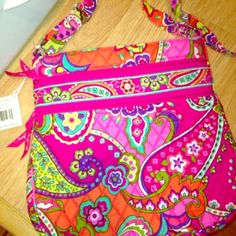 "SALENWT Vera Bradley triple zip hipster Brand NWT Vera Bradley triple zip adjustable strap hipster in pink swirls design, designed especially for breast cancer awareness. Details Slim crossbody style Three separate zippered compartments Interior zip pocket Two front zippered compartments, one with two slip pockets inside Multifunctional slip pocket on back Adjustable shoulder strap Dimensions 11 ¾"" w x 11 ½"" h x 1 ¾"" d with 56"" adjustable strap Vera Bradley Bags Crossbody Bags"