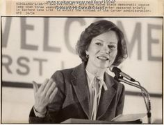 Maine Memory Network - First Lady Rosalyn Carter campaigning, 1980