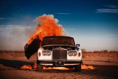 Tyler Shields, Rolls on Fire on ArtStack #tyler-shields #art