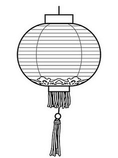 chinese lantern colouring pages