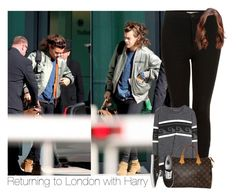 """Returning to London with Harry"" by hpforever00 ❤ liked on Polyvore featuring Topshop, Isabel Marant, Louis Vuitton, Vans, harrystyles and OTRATour"