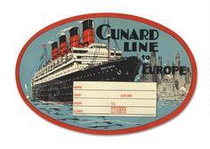Baggage Label Cunard Line