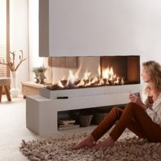 three sided fireplace | Contemporary and Stylish Fireplaces by Element4: 3-sided hang on the ...