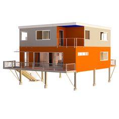 Love Shack prefab by JetFab / American Green Home Builders