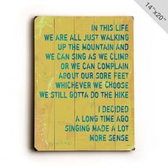 Sing it L.O.U.D. <3 sign #sing #sign #quotes #inspiration