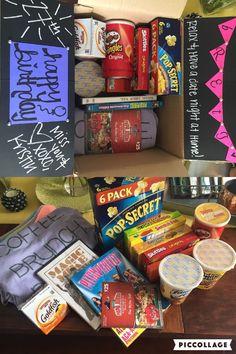 Stay-at-home date night in a box :) birthday gift for my best friend, Brett! #boyfriendbirthdaygifts #girlfriendbirthdaygifts
