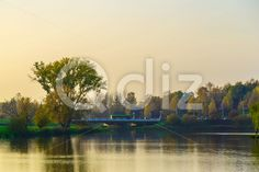 Qdiz Stock Photos | Autumn Landscape with Trees and Lake in the Urban Park at Sunset,  #autumn #background #beautiful #beauty #bridge #bright #calm #calmness #clear #colorful #environment #golden #grass #green #lake #landscape #leaf #leaves #multicolored #natural #nature #nobody #outdoor #park #peaceful #plant #pond #reflection #relax #relaxation #River #scenery #scenic #season #Serene #shore #sky #Sunset #tranquil #tranquility #tree #view #water #wood #yellow