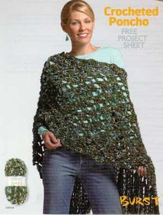 Crocheted Poncho LM0134 | Free Patterns | Yarn