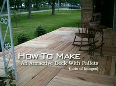 Wood Pallet Projects Awesome Free DIY Wood Pallet Decking Even the framework is made from pallets! It's only the screws/nails used to fix it together that actually cost anything. Check out the finished photos. - From DIY pallet flooring Pallet Patio Decks, Pallet Porch, Wood Patio, Diy Patio, Pallett Deck, Porch Wood, Garden Pallet, Diy Deck, Backyard Patio