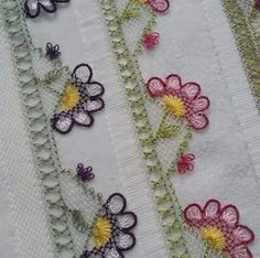 This Pin was discovered by Yes Diy And Crafts, Arts And Crafts, Linen Towels, Point Lace, Brazilian Embroidery, Needle Lace, Lace Making, Knitted Shawls, Knitting Socks