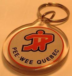 Vintage Promo Keychain INTERNATIONAL HOCKEY TOURNAMENT~Porte-Clés PEE-WEE QUEBEC