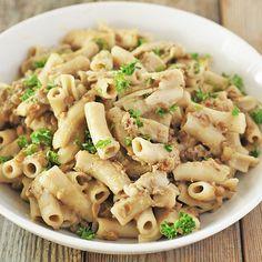 Creamy Lentil Pasta (Vegan, Soy-free, Gluten-free)