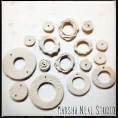 Love My Art Jewelry: Making Ceramic Hoops (or donuts) by Marsha Neal Studio