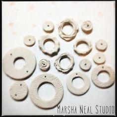 Love My Art Jewelry: Making Ceramic Hoops (or donuts) by Marsha Neal Studio