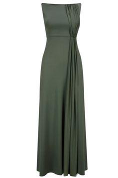 Moss green pleats gown by Neeta Lulla at Pernia's Pop-Up Shop. Drape Gowns, Draped Dress, Dress Skirt, Indian Dresses, Indian Outfits, Pakistani Dresses, Lehenga, Anarkali, Heavy Dresses