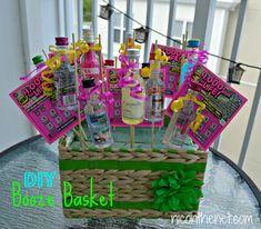 Nips & Scratch Tickets gift basket