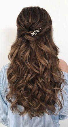 Wedding Hairstyles For Long Hair, Wedding Hair And Makeup, Bride Hairstyles, Down Hairstyles, Bridal Hair, Hair Wedding, Gorgeous Hairstyles, Easy Hairstyles, Hairstyle Ideas