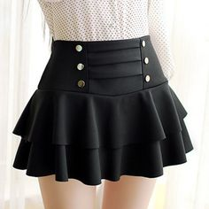 Cute skirt- any women at any generation can wear cute skirts solid color high-waist layered skirt VCWHKLV Skirt Outfits, Dress Skirt, Cool Outfits, Dress Up, Cute Fashion, Girl Fashion, Fashion Outfits, Fashion Black, Cute Skirts