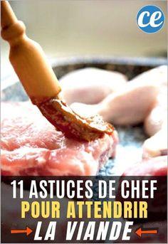11 Astuces De Chef Pour Attendrir la Viande (Et La Rendre Bien Moelleuse). Marinade Pour Barbecue, Food Inspiration, Steak, Easy Meals, Cooking, Recipes, Shower, Baby, Kitchen Tips