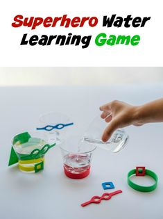 Do your kids love pretending to be a superhero? This Superhero Water game is a fun kids activity that will help teach units of measurement as they pour water. It also encourages creativity as they add super powers. This learning game is loads of fun and simple to set up. Featured from the book 100 Fun and Easy Learning Games for Kids | darncyandbrian.com