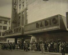 Radio City Music Hall, NYC, 1941 Theatre Marquee