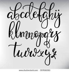 brush calligraphy alphabet - Google Search