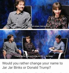 Diego Luna and Felicity Jones #interview #funny - Rogue One: a Star Wars Story