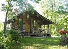 Little Cabin in the Woods ~ Tiny Cabins, Cabins And Cottages, Log Cabins, Little Cabin, Little Houses, Tiny Houses, Cabins In The Woods, House In The Woods, Log Cabin Homes