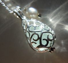 Sea Glass  and Pearl Necklace Filigree by BeachGlassMemories, $19.00