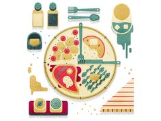 Time of Food by MUTI #Design Popular #Dribbble #shots
