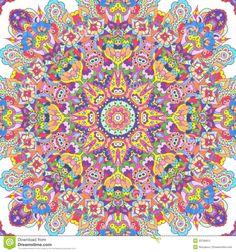Handdrawn Kaleidoscope Seamless Stock Photography - Image: 33796912