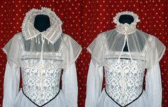 MC22 Elizabethan Silk Organza Partlet Sewing Pattern by Lynn