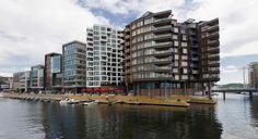 La zona de Tjuvholmen es la más moderna y cosmopolita de Oslo