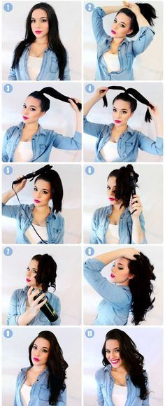 10 Tips On How To Glam Up Hair Under 10 Minutes Want to get tips on how to glam up hair under 10 minutes! Here is the article on how you can fix and shine your hair simply at home. So read on the article on glam up your hair in less then 10 minutes! Curled Hairstyles, Diy Hairstyles, Hairstyle Tutorials, Going Out Hairstyles, Hairstyle Hacks, Heatless Hairstyles, Easy Curls, Big Curls, Easy Hair