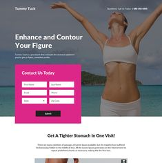 tummy tuck cosmetic surgery responsive landing page Tight Stomach, Best Landing Page Design, Tummy Tucks, Plastic Surgery, Cosmetics, Lp, This Or That Questions, Business
