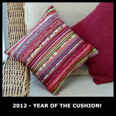 March 2012 - Cushion Num 1 . . . lots of material, ribbon and beads