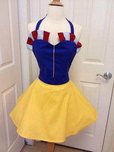 Snow White full skirt apron